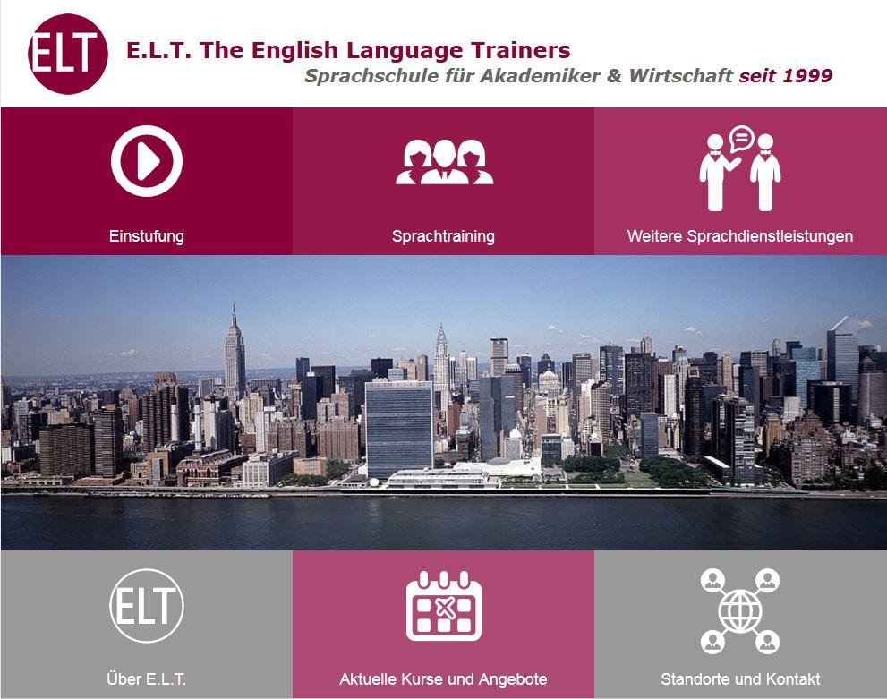 neue Homepage ELT